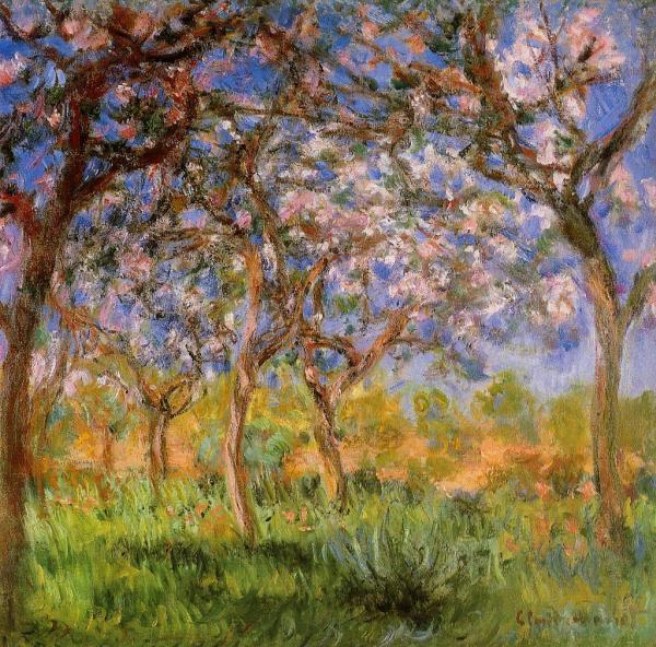 Primavara la Giverny, Claude Monet